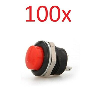 100x Red Momentary On/Off Push Button Temporary Reset Switch Car Boat Circuit