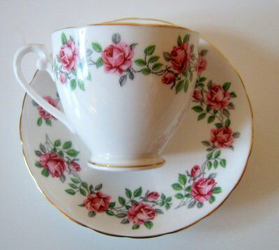 Vintage Royal Grafton Margaret Roses Tea Cup Saucer