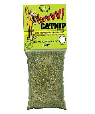 YEOWWW! 100% Organic Leaf  Flower Catnip Packet For Cats  Kittens 1 ounce