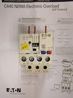 EATON CUTLER HAMMER C440 Electronic Overload Relay 4-20 Amp C440A2A020SF1