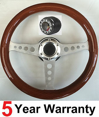 Classic Wood Wooden Steering Wheel And Boss Kit Fits Early Vw Beetle 1960-1973