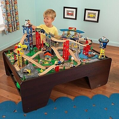 Train Set And Table - Super Expressway by KidKraft delivered free! Fun for Hours