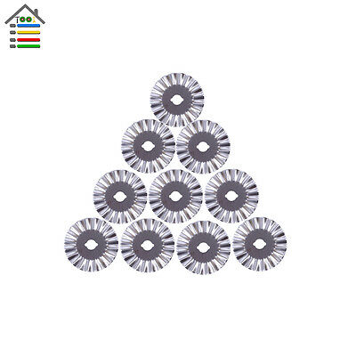 10pc 45mm Rotary Cutter Blade Refill Pinking Blades for Portable Paper Trimmer