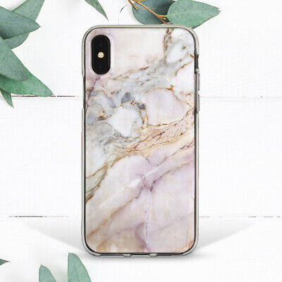 White Rose Gold Pink Marble Soft Silicone TPU Case iPhone 6s 7 Plus 8 Xs Max XR