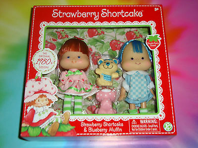 STRAWBERRY SHORTCAKE & BLUEBERRY MUFFIN - 2 Dolls 1980's Classic Collection 2016