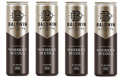 Baldwin Distilling Whiskey & Cola Cans
