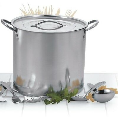 New 5Pc Stainless Steel Catering Deep Stock Soup Boiling Pot Stockpots Set