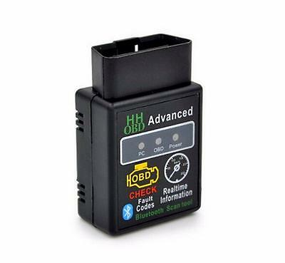 Car Auto V2.1 Bluetooth HH OBD Interface 2 OBDII New Diagnostic Tool Scanner
