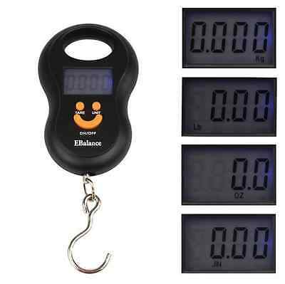 Digital Electronic Portable Hanging Luggage 50Kg/10g Weight Hook Scale US