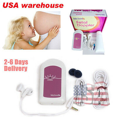 USA Seller NEW Fetal Doppler Baby Heart Monitor BabySound A  Doppler  promotion