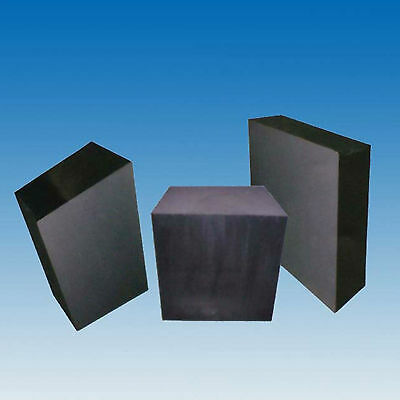 100x100x10mm High Purity Graphite Plate Block Electrode Heat Rectangle Sheet #EE
