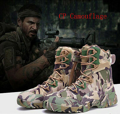 7429 Autumn Winter Waterproof Camouflage Tactical Shoe Suede Ankle Hunting Boots