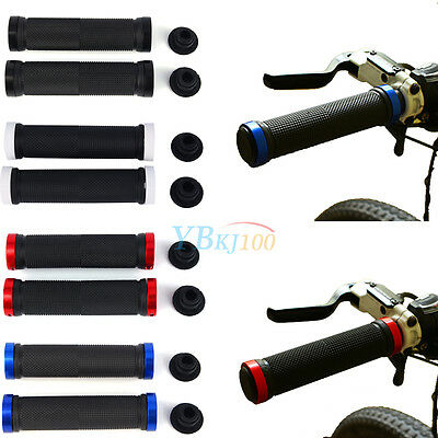 Double Lock On Locking Handle Bar Grips BMX MTB Mountain Bike Cycle Bicycle Hot