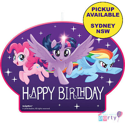 My Little Pony Party Supplies 4 Candles Birthday Cake Decorations Toppers
