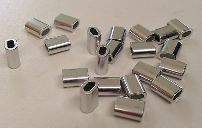 ALUMINUM ALLOY CRIMPS 1.9 mm x 7 mm short Crimp x 50 Great for Wire & Mono