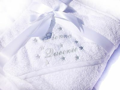 Winter Snuggle Robe, Embroidered Personalised Hooded Baby Towel