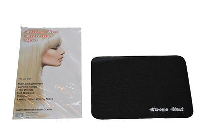 BLACK Heat proof mat for GHD Hair Straighteners and all other makes