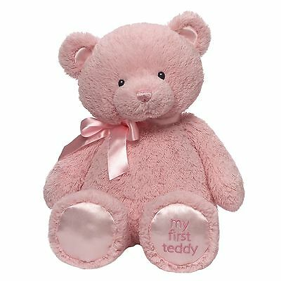 """MY FIRST TEDDY by Baby Gund Pink EXTRA LARGE 24"""" 40439841 BNWT New Baby Girl"""