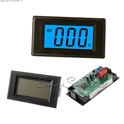 2-wire 80-500V AC Digital Voltmeter Panel LCD Digital Alternating Voltage Meter