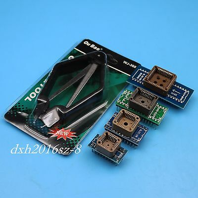 1Set of PLCC20/28/32/44 to DIP20/24/28/32/40 Complete PLCC General Adapter