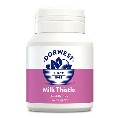 Dorwest Herbs Milk Thistle Tablets For Improved  Liver Function In Cats & Dogs