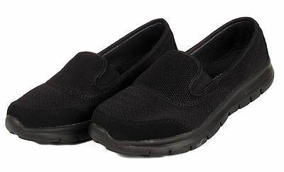 New Ladies Casual Work Slip On Trainer Sports Outdoor Womens Shoes Sizes Uk 3-8
