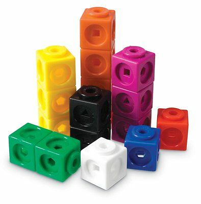 Learning Resources Mathlink Cubes Teaching Classroom Learn Maths Set of 100 NEW