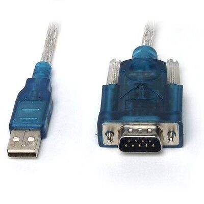 USB 2.0 to Serial RS-232 RS232 DB9 9 Pin Adaptor Converter Cable Lead Wire UK