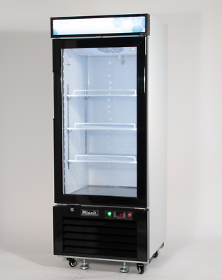 Migali C-10RM Commercial Single Glass Door Merchandiser Refrigerator