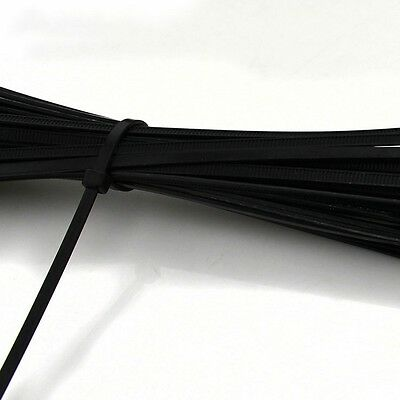 50PCS 4x300mm BLACK NYLON CABLE TIES / ZIP TIES FOR FASTENING CABLES & WIRES