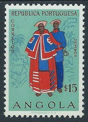 Angola 1957 Stamp Couple from Dembos COSTUMES Sc 397 Mi 403 MINT Light Hinge  VF
