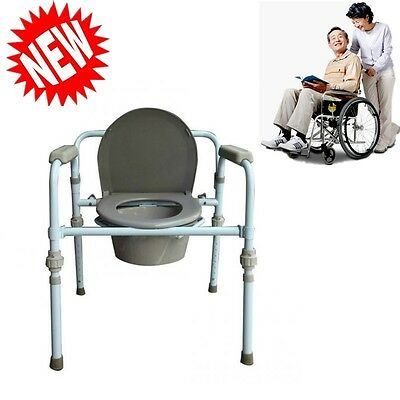 For Disabled Chair Handicap Seat Bucket for Adult Bedside Toilet Commode Potty