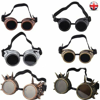 Cyber Goggles Steampunk nail Glasses Vintage Retro Welding Punk Gothic Victorian