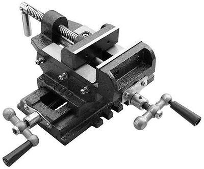 4'' Cross Drill Press Vise Slide Metal Milling 2 Way X-Y Clamp Machine