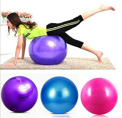 55cm Ball Abdominal Back Leg Core Fitness Workout Ball Yoga Exercise Gym New