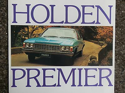 1976 Holden Hx Premier Sales  Brochure.  100% Guarantee.