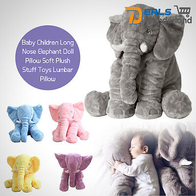 Plush Soft Stuff Toys Baby Children Gift Long Nose Elephant Doll Lumbar Pillow