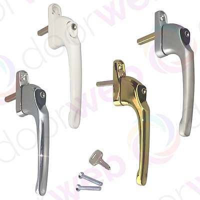 UPVC Inline Window Handle Locking Double Glazing Universal Key Lock Espag Maxim