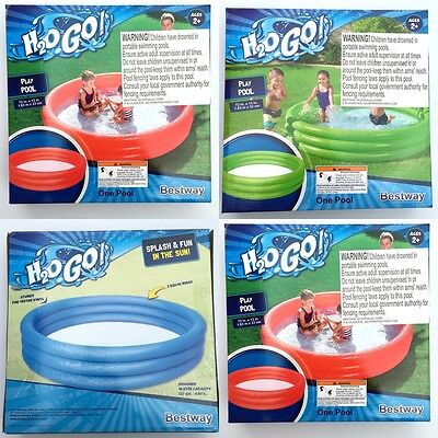 New Bestway Inflatable Swimming Pool Summer Fun 1.83M/72'' Outdoor Play Pool