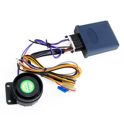 Motorcycle Alarm System with 2 Way LCD Remote Engine Start Microwave Sensor
