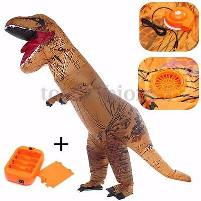 Gonfiabile T-Rex Vestito Blow-up Dinosauro Costume Adulto Halloween Party Outfit