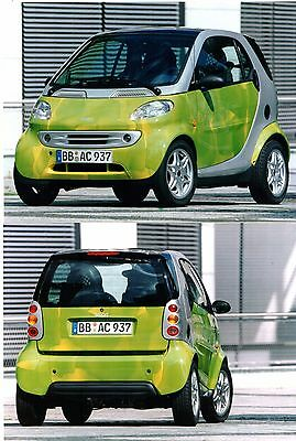 Smart ForTwo City Coupe Cubic Printing 1998 Press Photographs x 2