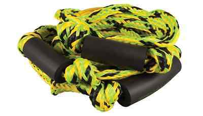 96. Straight Line Green Yellow Knotted Surf Rope