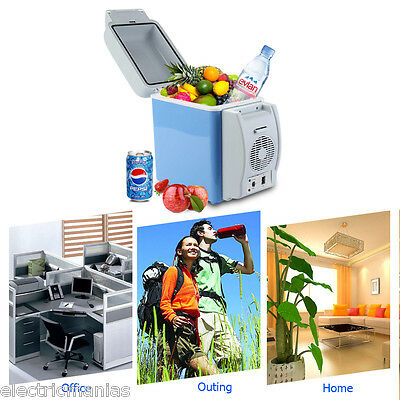7.5L Portable Fridge Electric Cooler&warmer 12V Car Refridgetor Travel Friend Uk