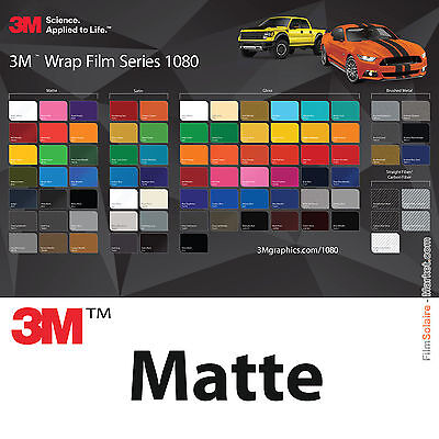 3M Wrap Film 1080 Mat -different colors and dimensions / car wrapping