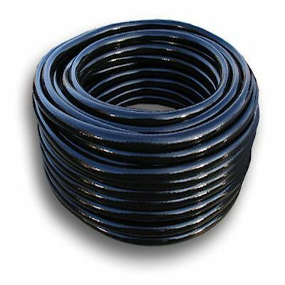 8mm Black Braided Reinforced Airline Hose Koi Pond Aquatics