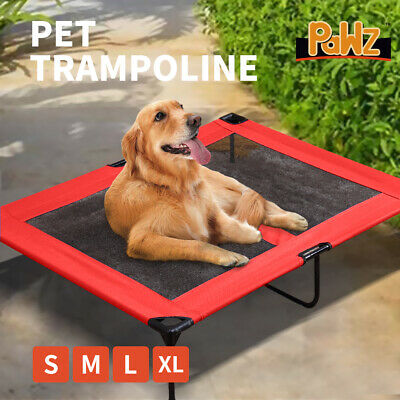 Heavy Duty Pet Dog Bed Trampoline Hammock Canvas Cat Puppy Cover RED