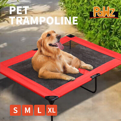 PaWz Heavy Duty Pet Dog Bed Trampoline Hammock Canvas Cat Puppy Cover RED