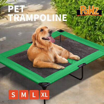 Heavy Duty Pet Dog Bed Trampoline Hammock Canvas Cat Puppy Cover GREEN