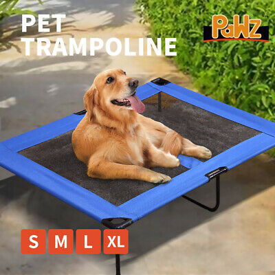 Heavy Duty Pet Dog Bed Trampoline Hammock Canvas Cat Puppy Cover BLUE